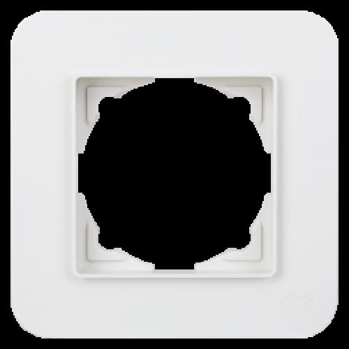 Рамка*1 белая Gunsan Radius (01379300-000140)